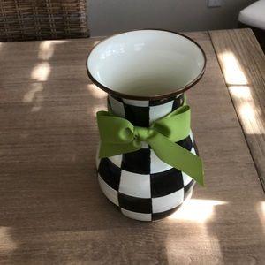 Mackenzie-Childs Courtly Check Enamel Vase Tall